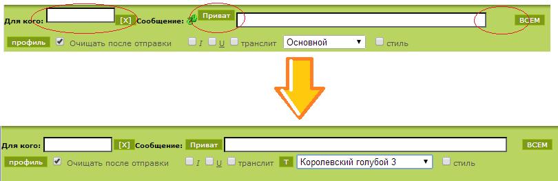 Корректную форму отправки сообщений