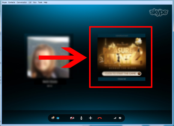 Блокировка рекламы в skype